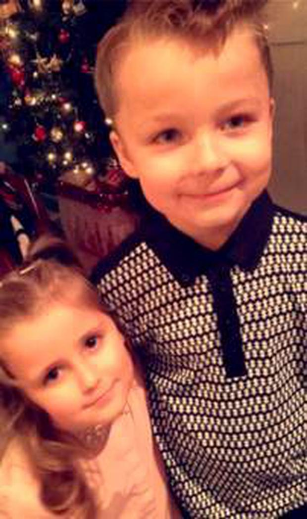 Jackson with his little sister Ally Pic: Belfast Telegraph