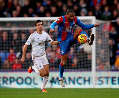 Crystal Palace's Jason Puncheon during the Premier League match at Selhurst Park