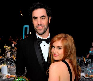 Sacha Baron Cohen and his wife Isla Fisher. (Photo by John Shearer/Invision/AP, File)