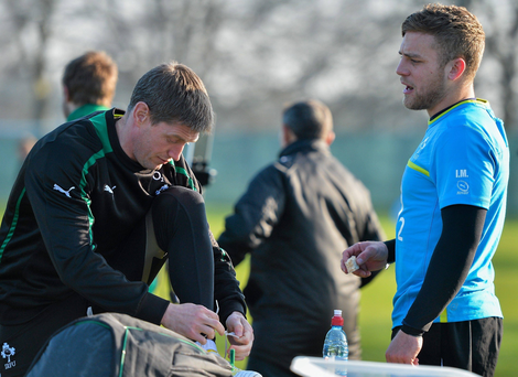 Ronan O'Gara and Ian Madigan as international team-mates