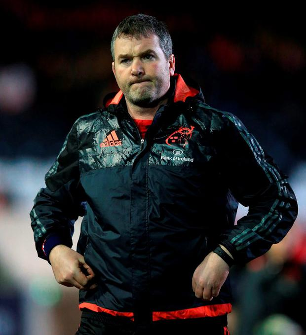 Munster's head coach Anthony Foley. Photo: Mike Egerton/PA Wire
