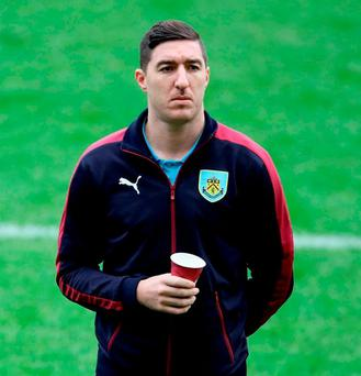 Burnley's Stephen Ward started his first league game in over a year. Photo: Richard Sellers/PA Wire