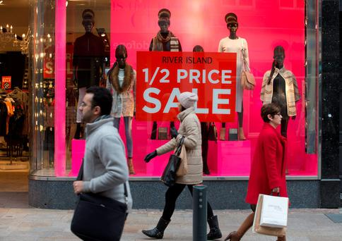 Retailers have reported a brisk start to the sales season. Photo: Fergal Phillips