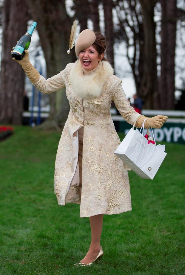 1fb7f40fe7f Hats off to Carol as festive golden outfit wins her Most Stylish ...
