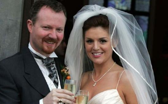 Glen Mulcahy and Sile Seoige on their wedding day in 2006