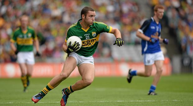 Patrick Curtin in action for Kerry in the All-Ireland quarter-final in 2013