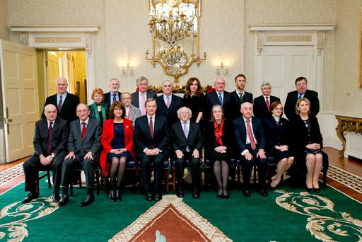 President Higgins convened a meeting of the Council of State at Áras an Uachtaráin today. Pic Tony Maxwell
