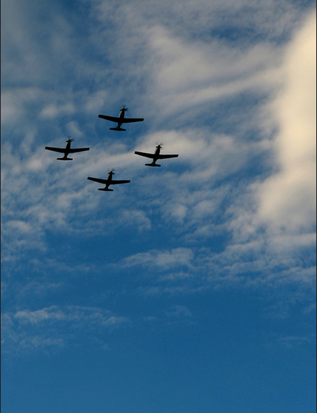 A scenic formation in the skies Credit: Air Corps