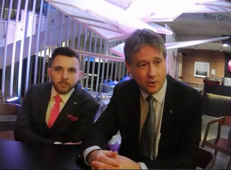 Johnny McCarthy, left, with NI21 leader Basil McCrea at their party conference