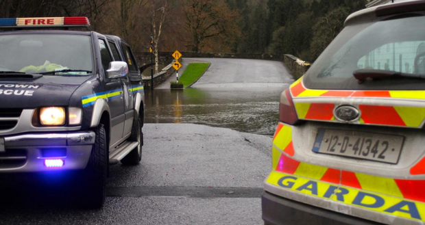 A flooded road in Inistioge Credit: Paul Doyle Photography