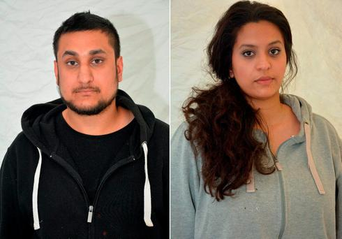 Mohammed Rehman and Sana Ahmed Khan who were convicted at the Old Bailey on December 29, 2015, of preparing for acts of terrorism. Photo: AFP Photo/ Thames Valley Police
