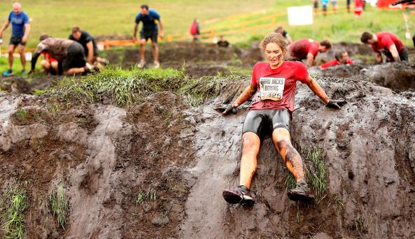 Witness the fitness: Roz Purcell took part in the Tough Mudder challenge in Co Meath earlier this year. Photo: Gerry Mooney