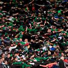 'The #COYBIG hashtag will be trending this summer as more than 50,000 Irish soccer fans flock to France to cheer on the lads at the Euro 2016 finals.' Photo: Ramsey Cardy / SPORTSFILE