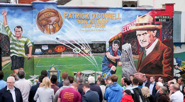 A Patrick O'Connell mural being revealed in Belfast this year