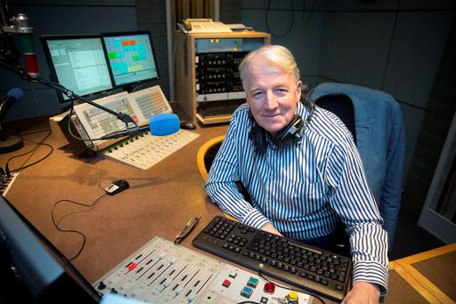 RTÉ Radio One DJ Alf McCarthy in his studio ahead of his last show. Picture: Arthur Carron