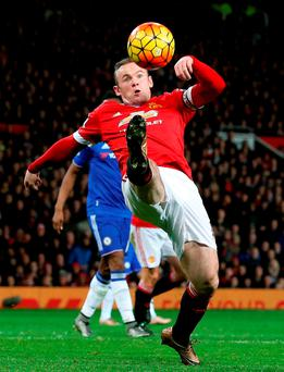 Wayne Rooney struggles to control the ball against Chelsea (Photo: PA)