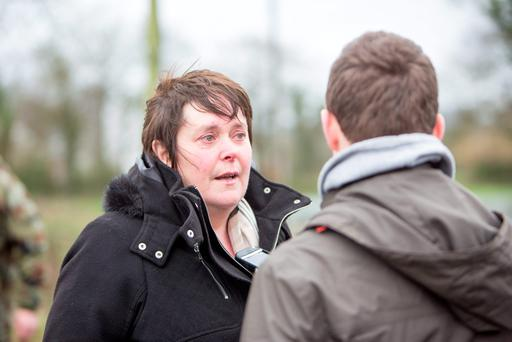 A distraught Geraldine Quinlivan pictured earlier this week. Photo: Liam Burke/Press 22