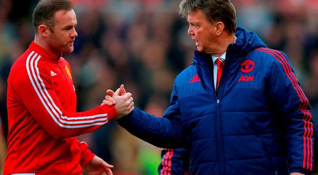 Louis van Gaal with Wayne Rooney