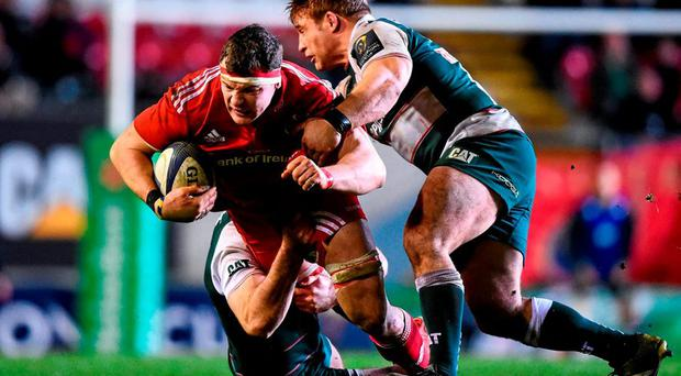 Robin Copeland in action against Leicester in the Champions Cup