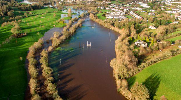 30/12/15 - Flooding Crookstown N22 Macroom: Tom Creedon Park under water after severe rainfall on Tuesday night after Storm Frank unleashed his power over the country. Picture: John Delea.