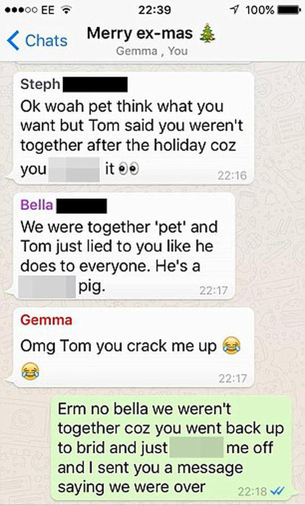 Tempers flared during the chat Credit: Facebook/Lads Bible
