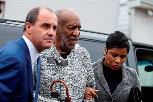 US comedian Bill Cosby arrives December 30, 2015 to the Court House in Elkins Park, Pennsylvania to face charges of aggravated indecent assault.