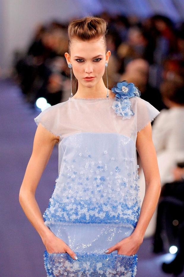 Too famous: Karlie Kloss says designers don't want her because she distracts from the clothes. REUTERS/Benoit Tessier