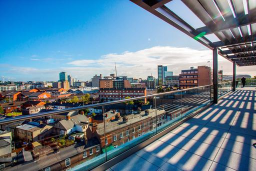 Dublin's bustling Silicon Docks. Photo: Naoise Culhane