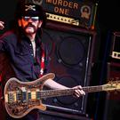 "Ian Fraser ""Lemmy"" Kilmister of Motorhead performing on the Pyramid stage during the 2015 Glastonbury Festival. Photo: Reuters"
