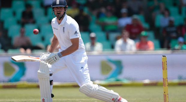 England's batsman and captain Alastair Cook bats during the third day of the first Test match between England and South Africa at Kingsmead Stadium, Durban (Photo: Getty)