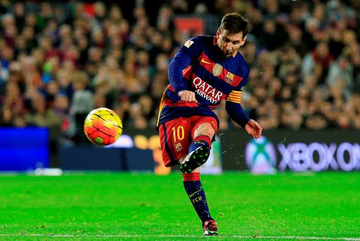 Lionel Messi scored on his 500th appearance for Barca. AFP PHOTO/ PAU BARRENAPAU BARRENA/AFP/Getty Images