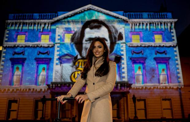 Nadia Forde switches on NYF lights. Photo Chris Bellew Copyright Fennell Photography 2015