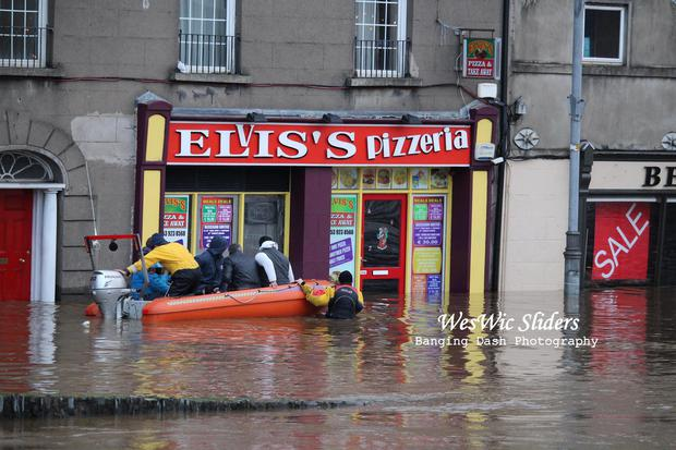 Enniscorthy flooding. Sent in by Ben Farrell via email to contact@independent.ie