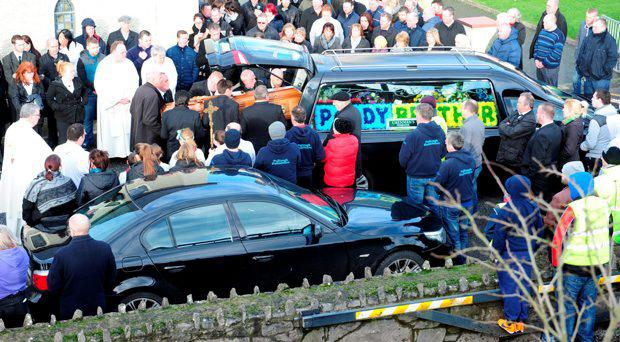 The funeral of Paddy Buckley which took place at St. Mary's Church, Pullough, Co Offaly
