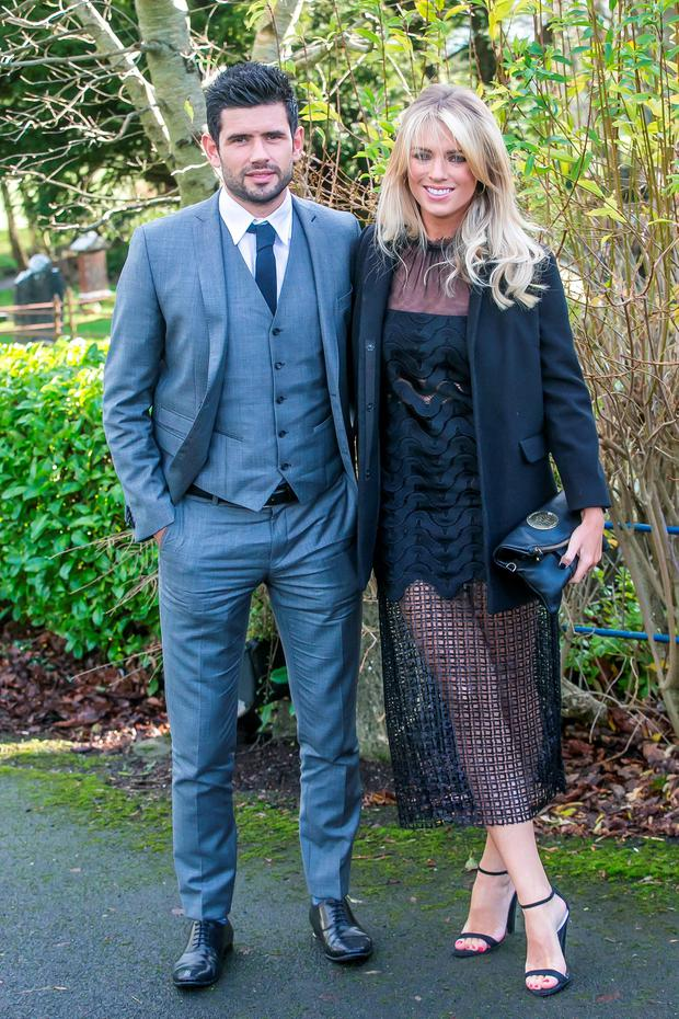 31/12/2015: Cian O'Sullivan and Danielle Byrne at the wedding of Stephen Cluxton and Joanne O'Connor in Killenard. Photo: Pat Moore.