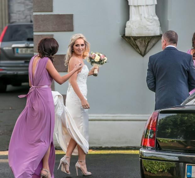 31/12/2015: Joanne O'Connor arrives at the church in Killenard for her wedding to Stephen Cluxton. Photo: Pat Moore.