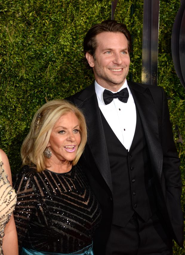 Bradley Cooper pictured with his mum Gloria at the 2015 Tony Awards at Radio City Music Hall on June 7, 2015 in New York City.