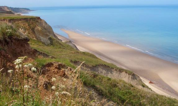 Trimingham on the north Norfolk coast Credit: Google Maps