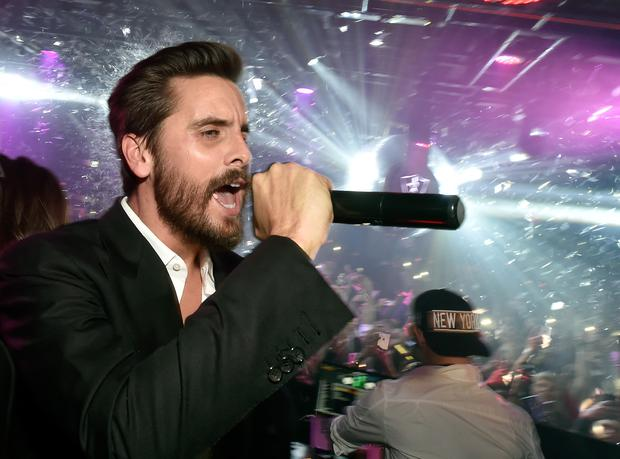 Television personality Scott Disick hosts a New Year's Eve celebration at 1 OAK Nightclub at The Mirage Hotel & Casino