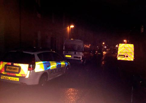 Police at the scene in Dundonald Street in Preston, Lancashire Credit: Lauren Brown/PA Wire