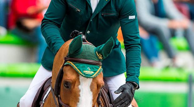 Tragedy as Cameron Hanley's horse Antello Z had to be put down after sustaining an injury. Photo: Ray McManus / Sportsfile