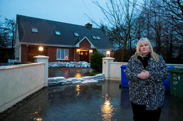 Bridget Kinsella at her home in Springfield, Clonlara, Co Clare where flood waters are expected to rise. Photo: Brian Gavin
