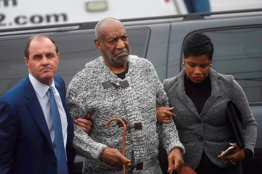 Bill Cosby arrives in court to face charges, accompanied by his lawyer Monique Pressley. Photo: Reuters