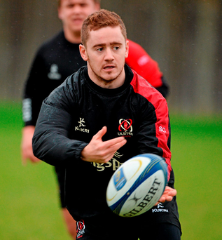 18 December 2015; Ulster's Paddy Jackson during the captain's run. Ulster Rugby Captain's Run, Kingspan Stadium, Ravenhill Park, Belfast, Co. Antrim. Picture credit: Oliver McVeigh / SPORTSFILE