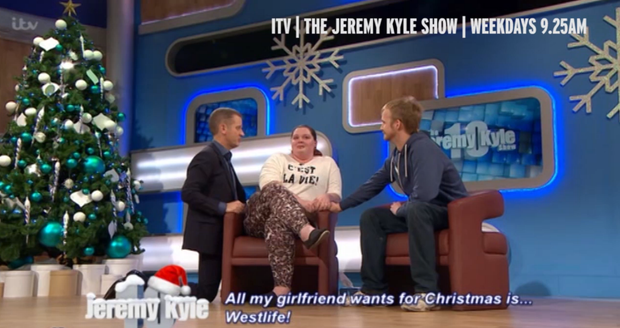 Westlife super fan Kirsty Byran appeared on the Jeremy Kyle Show