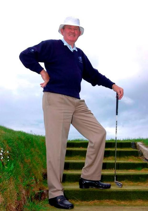 Bobby Browne, who died on Christmas Day, at Laytown and Bettystown Golf Club, Co. Meath in April 2007. Damien Eagers