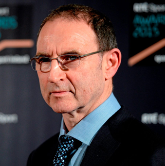 19 December 2015; Republic of Ireland manager Martin O'Neill at the RTE Sports Awards. RTÉ, Donnybrook, Dublin. Picture credit: Piaras Ó Mídheach / SPORTSFILE