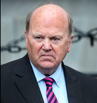 Minister for Finance Michael Noonan TD speaking to media at Government Buildings following Rent Certainty Proposals and Increased Housing Supports. Pic Steve Humphreys 10th November 2015.