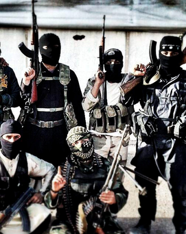 EXPORTING TERROR: British-born Isil fighters in Syria in 2014. Photo: Tim Stewart/Rex