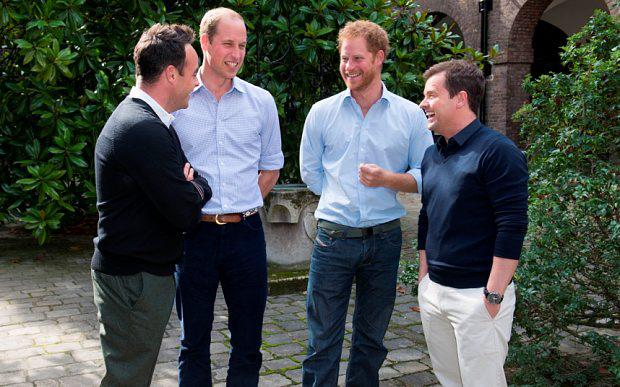 Ant and Dec meet Prince's William and Harry at Kensington Palace Photo: ITV